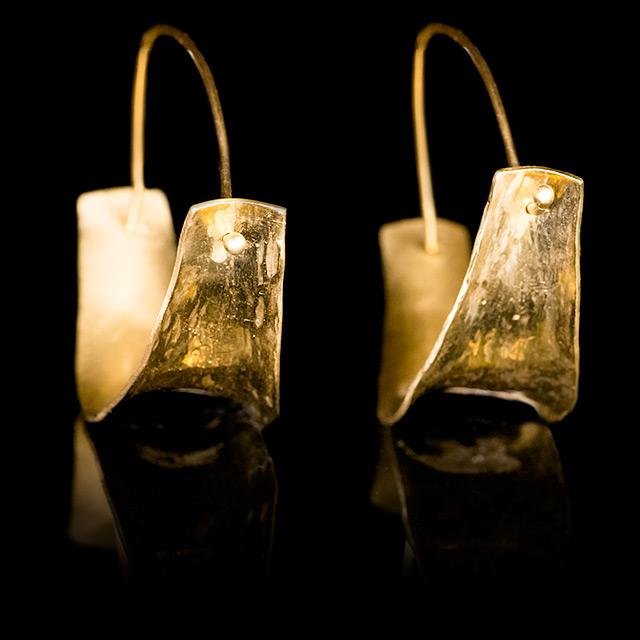 Farrah Dragon Gold Ethnic Small Earrings