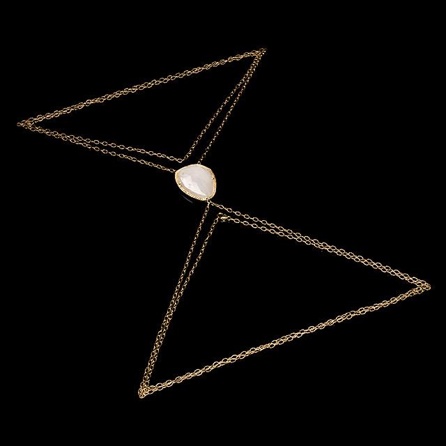 Jacquie Aiche Diamond & White Sapphire Gold Body Chain