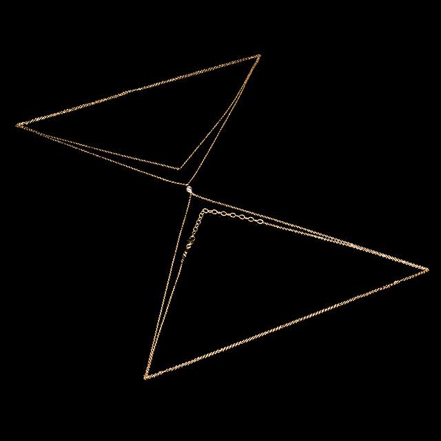 Jacquie Aiche Single Diamond Gold Body Chain