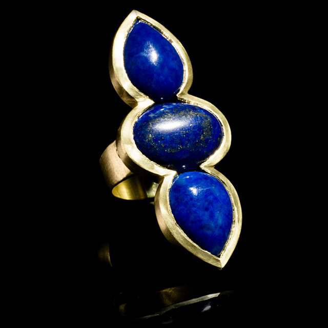 LFrank Lapis & Gold Ring