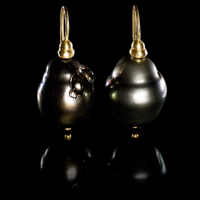 LFrank South Sea Pearl Gold Drop Earrings