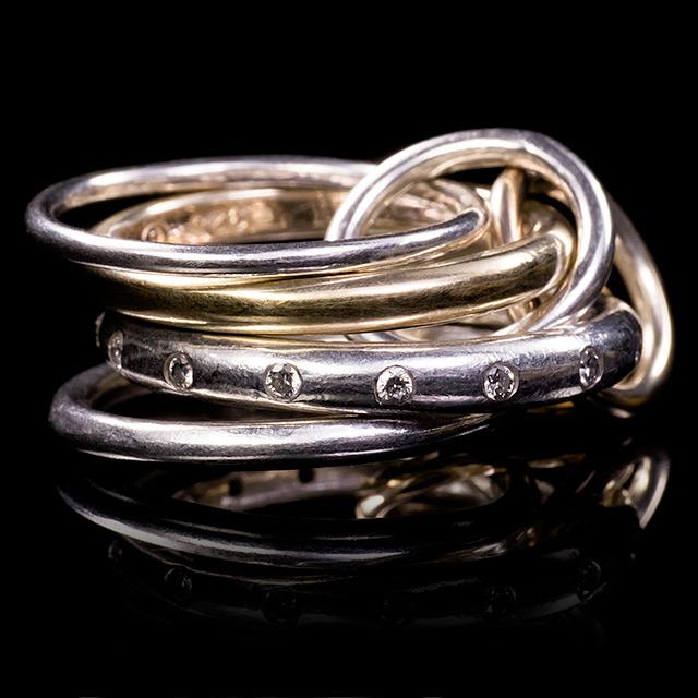Spinelli Kilcollin Lyra White Diamond Linked Ring
